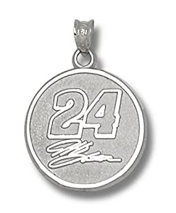 Logoart Jeff Gordon Sterling Silver Round Logo Pendant by Logo Art