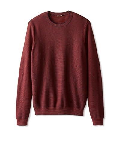 J. McLaughlin Men's Stripe Morgan Long Sleeve Sweater