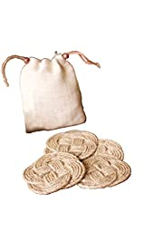 Set of Four Woven Knot Coasters with Bag / Natural