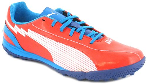 New Mens/Gents Orange Puma Lace Up Football Shoes/Trainers. - Orange/White - UK 6-13