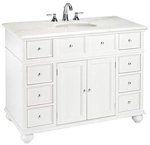 Hampton Bay Single Sink Cabinet Vanity With White Granite