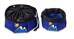 Doggles Dog Travel Bowl, Small, Blue