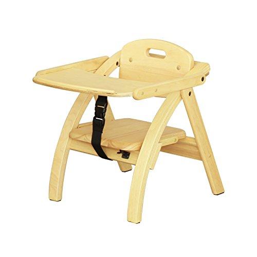 大和屋 アーチ木製ローチェア N NA(ナチュラル) ベビーチェア 木製 6カ月