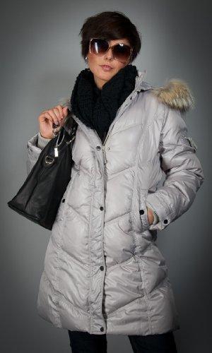 Damen Jacken: Tolle warme Daunenjacke sand Gr. 42 mit