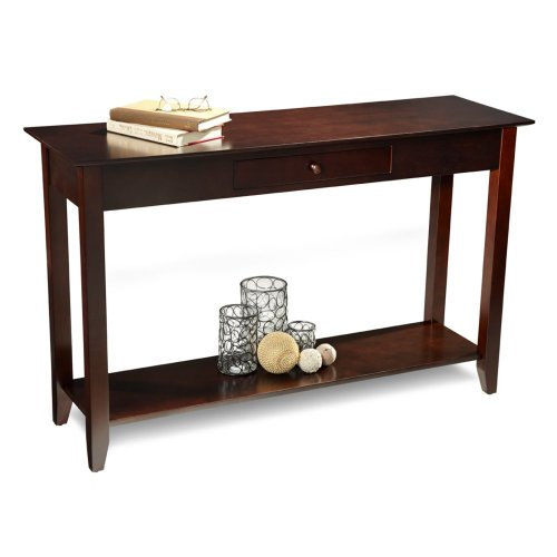 Cheap Convenience Concepts American Heritage Console Table with Drawer and Shelf – Espresso (B00845315Y)