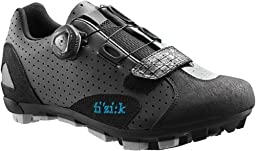 Fizik 2015 Women\'s M5B Donna Boa Mountain Bike Shoes - Anthracite/White Trim (Anthracite/White - 39)