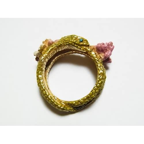 (パルナートポック)Palnart Poc ウロボロス リング  ギリシャ神話 ヘビ 指輪 スネーク へび 蛇 花 フラワー 個性的【Brough Superior/ブラフシューペリア】