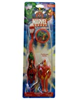Iron Man Toothbrush - Marvel Iron Man Travel Toothbrush With Mini Figurine And Cap