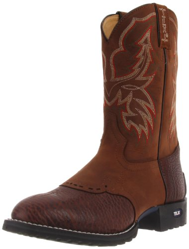 Tony Lama Boots Men's Shoulder XT5000 Boot,Chocolate Tucson Shoulder/Tan Cheyenne,10 D US
