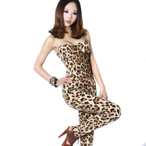 Zehui Sexy Women's Strapless Jumpsuit Pants Clubwear
