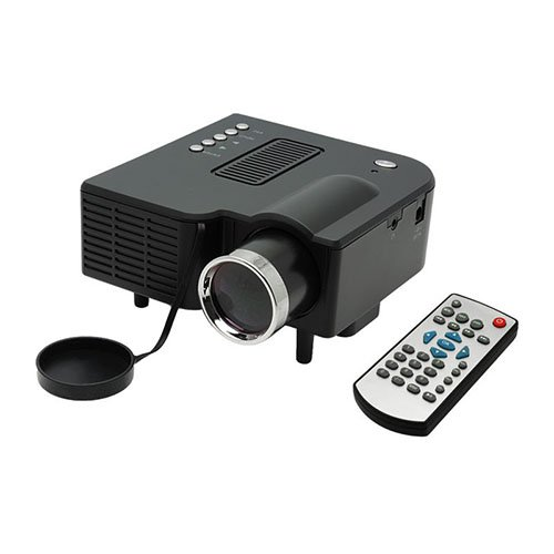 Us Local Fast Delivery, Lightinthebox® Qvga 400 Lm Mini Hd Home Lcd Projector With Hdmi Input -Black Color