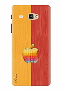 Noise Designer Printed Case / Cover for Samsung Galaxy J Max / Graffiti & Illustrations / Retro Apple With Wood