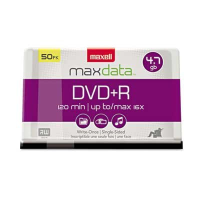 Maxell 16x Spindle DVD+R Discs 4.7GB 50/Pack