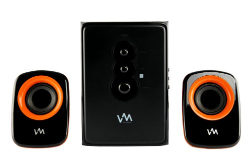 VM Audio EXCS210 350 Watt 2.1 Home/Computer Speakers Multimedia System USB/SD