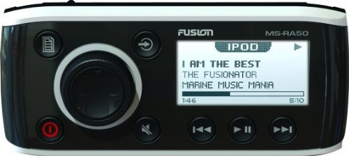 Fusion MS-RA50, AM/FM/AUX/iPOD-iPHONE/Bluetooth Ready Marine Stereo