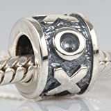 Hug and Kiss XOXO Authentic 925 Sterling Silver Bead Fits Pandora Chamilia Biagi Troll Charms Europen Style Bracelets