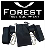 "Forest Tree Equipment ✔ Tree Swing Strap Hanging Kit, Holds 1000lbs, 100% Waterproof, Fast Swing Hanger Installation - Snap Carabiner Hook, Perfect For Swings & Hammocks! Each Strap 2""x 48"" (2 Pack) ✔"