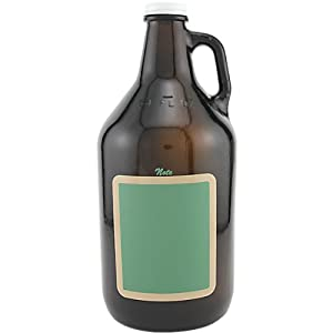 Catamount Glassware Growler Chalkboard Rectangle Beer Glass, 64-Ounce, Amber by Catamount
