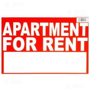 8 x 12 apartment for rent sign 12 pieces industrial scientific. Black Bedroom Furniture Sets. Home Design Ideas
