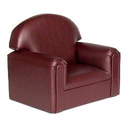 Brand New World Toddler Premium Vinyl Upholstery Chair - Port Burgundy