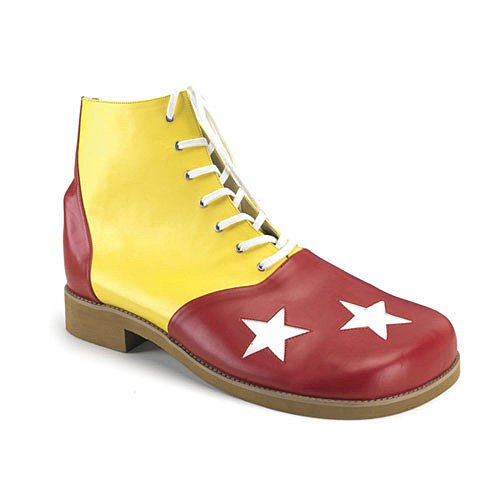 Funtasma by Pleaser Men's Halloween Clown-02,Yellow/Red,one S (US Men's 8-9 M)ize