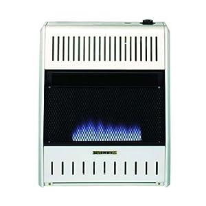 PROCOM Blue Flame Wall Heater - 20,000 BTU Output, 700 Sq. Ft. Heating Capacity