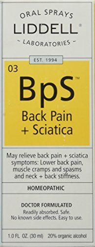 Liddell Homeopathic Back Pain Sciatica Spray, 1 Ounce