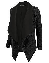 Thanth Womens Open Front Fleece Cardi…