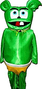 Gummy Bear Suit Cartoon Mascot Costume Carnival Uniform Halloween About 6 Yrs Old