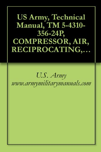 Us Army, Technical Manual, Tm 5-4310-356-24P, Compressor, Air, Reciprocating, Electric Motor Driven, Rece Mounted, 5 Cfm At 175 Psi, Model No. Hr2-6M-1, Military Manauals, Special Forces