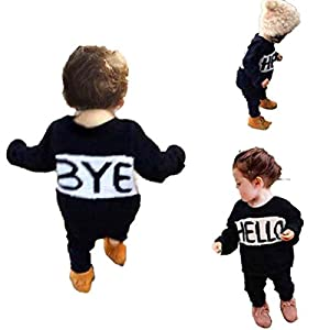 HANYI Outfits Baby Girls Printing Casual Clothes 1set (3T, Black)