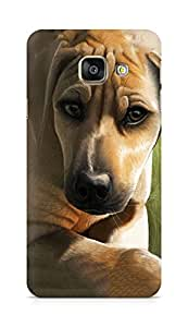 Amez designer printed 3d premium high quality back case cover for Samsung Galaxy A3 (2016 EDITION) (Dog)