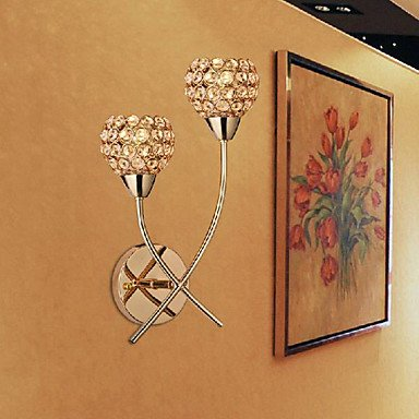 cristal d'or Applique murale š€ 2 lumiššre 220-240v