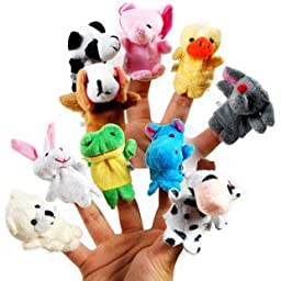 Cartoon Animal Finger Puppet 10 Pcs animal toys Baby Dolls Baby Toy Animal Doll