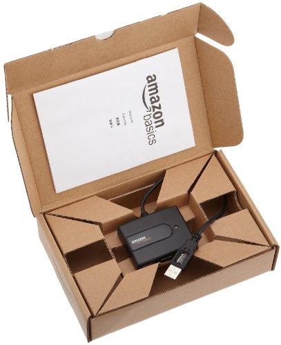 Amazonベーシック USB2.0ウルトラミニハブ (タイプAオス27cmケーブル- タイプAメス4ポート)