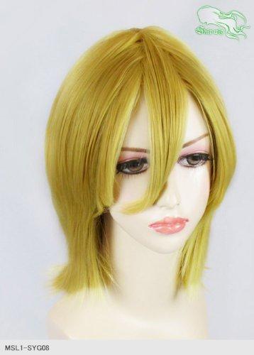 スキップウィッグ 魅せる シャープ 小顔に特化したコスプレアレンジウィッグ シャイニーミディ ダークゴールド