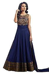 Anbazaar Blue Georgette Salwar Kameez