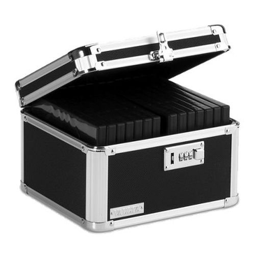 Vaultz Locking DVD and Video Game Lock Box, 9.25 x 7.25 x 9.75 Inches, Black (VZ01047)