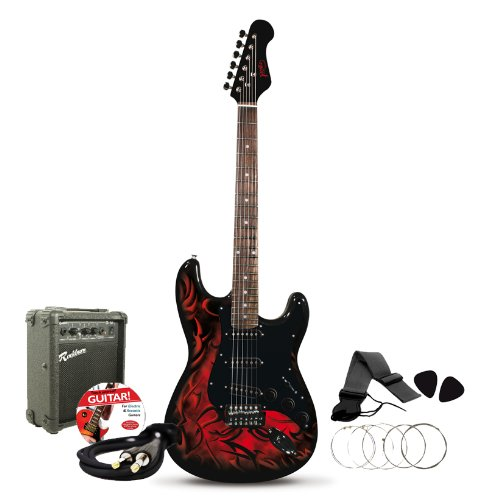 jaxville demon st style electric guitar pack b001jb17c4 amazon price tracker tracking. Black Bedroom Furniture Sets. Home Design Ideas