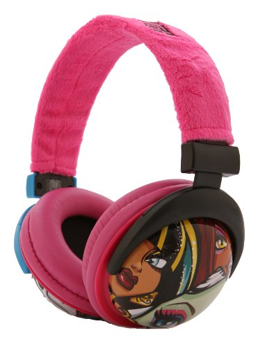 Monster High Printed Plush Headphones - Pink (35148)
