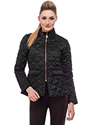 Quilted Black Peplum Jacket