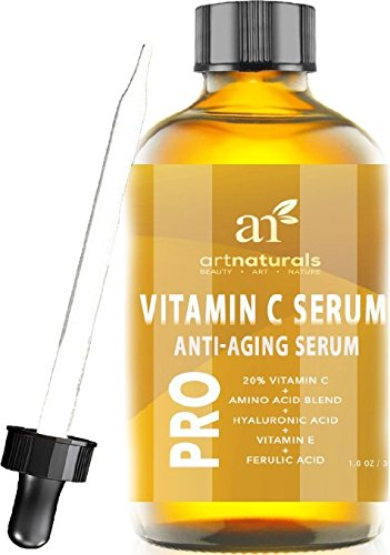 ArtNaturals Enhanced Vitamin C Serum With Hyaluronic Acid 1 Oz - Top Anti Wrinkle, Anti Aging & Repairs Dark Circles...