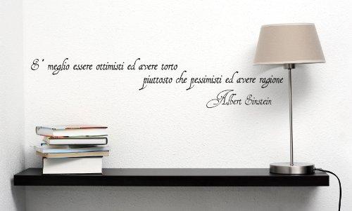 Adesiviamo 462-M Albert Einstein Meglio essere ottimisti... Adesivo da parete Vinyl Wall Stickers Decals