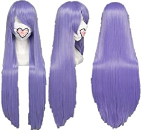 Long Light Purple Costume Wigs Hetalia,Death Note,Natsume Yuujinchou COS wig (light purple)