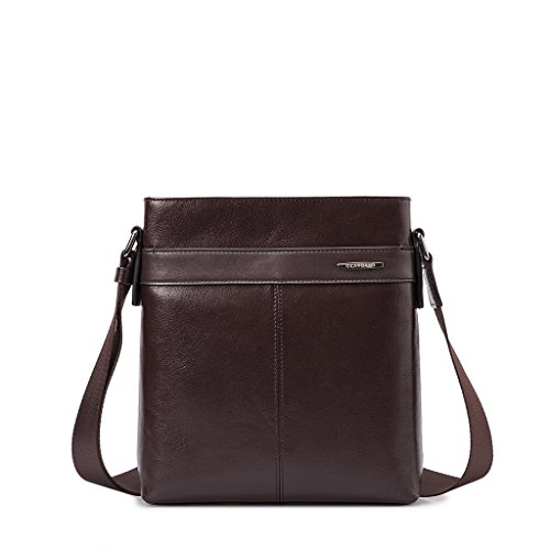 Borsello uomo in vera pelle a tracolla Borsa messenger porta iPad Gear Band Marrone