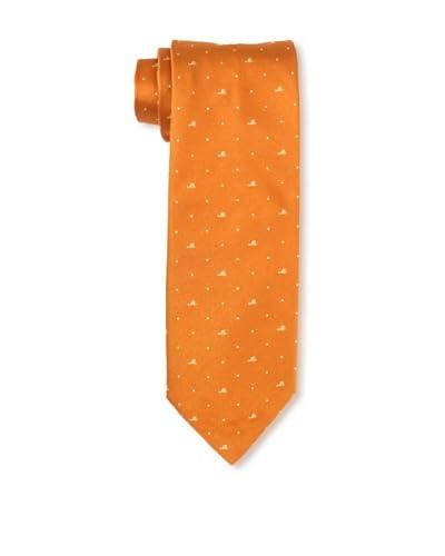 Moschino Men's Mini Block Tie, Orange As You See