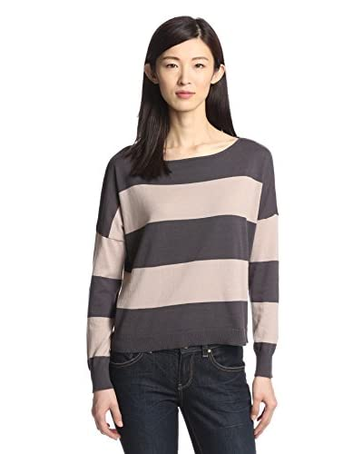 Cotton Addiction Women's Rugby Stripe Pullover
