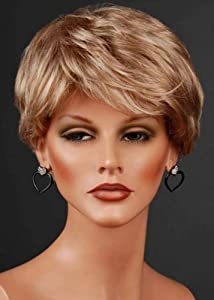Forever Young Short Platinum and Ash Blonde Mix with Free Cap Number 16/613 Ladies 2-Tone Off Centre Parting Style Wig