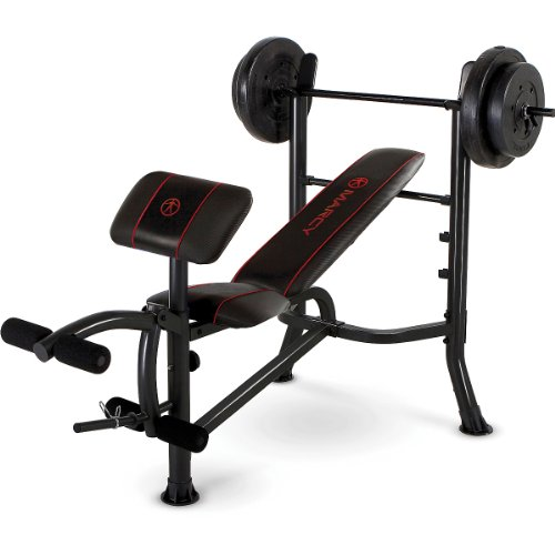 Standard Bench With 80 Lbs Weight Set front-447521