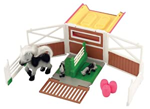 Pony In My Pocket Show Jump Fold out playset includes exclusive Pony Mum & Babies Quarab family and show jumping accessories.